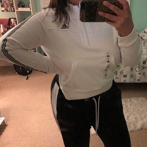 Adidas cropped half zip